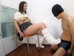 Incredible Japanese girl Minami Ayase in Best Footjob, Big Tits JAV clip