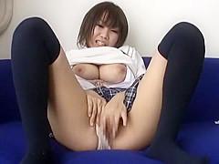 Best Japanese whore Niine Ozawa in Horny Lingerie, Stockings JAV clip
