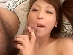 Horny Japanese chick An Shinohara in Amazing Facial, POV JAV clip
