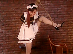 ASIAN MAID BOUND IN THE BASEMENT