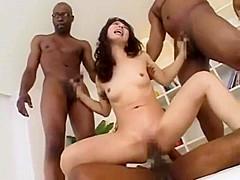 Yuka Osawa and 3 black cocks Anal sex(大沢佑香)