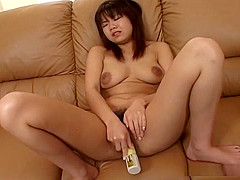 Busty babe satisfies her wet vagina