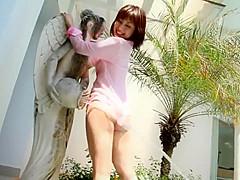 【長谷川百花】上品なお姉さん・長谷川百花ちゃんのイメージ。シースルーの布越しに乳首やヒップを披露