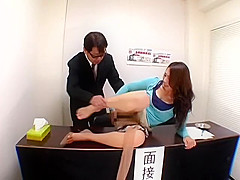 Japanese Girl Farting at Interview and Getting Pussy Licked