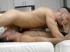 Tattoo gay oral sex and cumshot