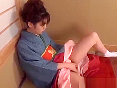 Chinatsu Nakano doing her hairy poke hole really goood - Mor