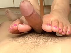 Japanese Teen Homemade Footjob