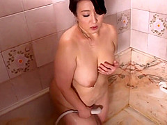 Asian BBW in the shower