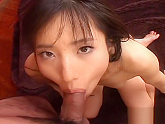 Adorable brunette Asian slut getting fucked in missionary po