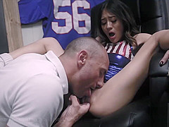 Sucking Cock to be Cheerleader Jasmine Grey