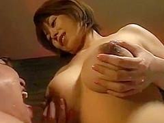 Lactating girl with big boobs