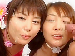 Japanese girl cum play and swap