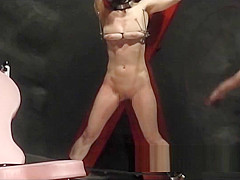 The woman who would like to be hopeless. Leather whip 1