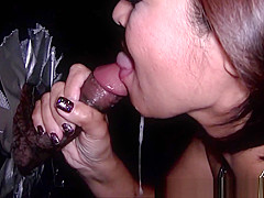 Asian mother not daughter Real Gloryhole Compilation