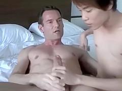 [CumInside] British Daddy gives Asian stepson a creamy Creampie