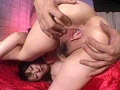 RIKO, close-up japanese pussy play!!