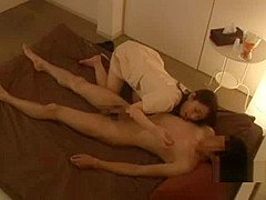 Asian Masseuse Giving Handjob Licked In 69 Fucked In Doggy Finishing With H