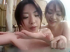 Asian Girls Making Out Licking Eachothers Body Sucking Tongues In Hot Bath