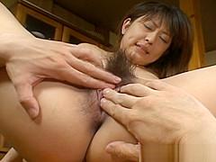 Asakawa Rei Getting Her Anus Poked Hard Over A Table