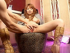 Nana Mochizuki Hot Japanese Who Enjoys Fingering Her Hairy Pussy