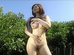 Haruna Yamagishi Naughty Asian model enjoys showing off her hot body and playing with toys