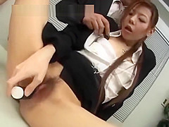 Japanese Black Suit Office Lady Gagged And Anal Abused