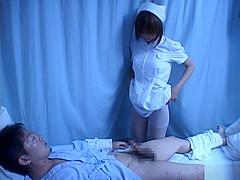 Japanese AV model is a horny nurse who really loves her patients