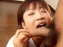 Ami Kitakima takes two cocks at the same time and makes a double blowjob.