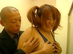 Chiharu Nakasaki is a naughty and busty Asian doll in cosplay