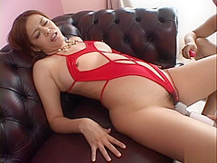 Jun Rukawa Hot Japanese chick enjoys cum and adult toys