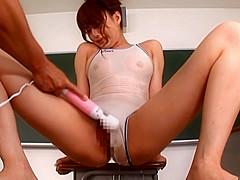Akiho Yoshizawa Sexy Asian student shows off her swimsuit