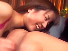 Two hairy Japanese lesbians licking each part3