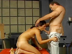 Asian babe gets shaved pussy licked part6
