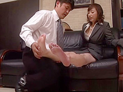 Hot mature Asian office chick gets position 69 at work