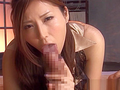 Randy Asian milf in black stockings in amateur POV