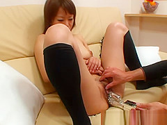 Asian hottie loves kinky toys
