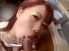 Naughty Riri Ouka is fucked in the kitchen