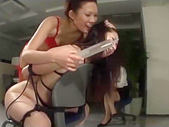 Tied Asian Girl Asshole Fucked