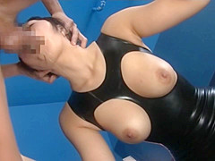 Horny Nana Ogura Tits Hanging Out during Blowjob