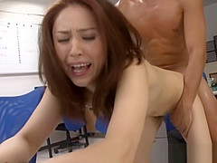 Yurie Matsushima lovely office lady gets rear fucking