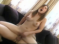 Pussy shaved asian babe gets fingered part1