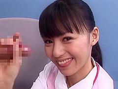 Aino Kishi is a naughty and horny Asian office lady giving a handjob