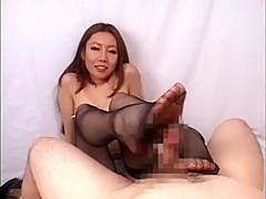 Handjob tease with long sexy fingernails
