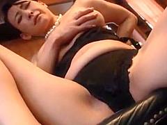 japanese milf widow masturbating