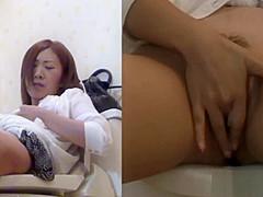 Japanese slut rubbing
