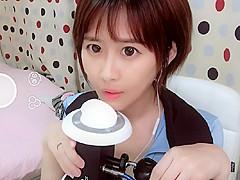 ASMR - Cute Asian girl ear licking sounds [2]