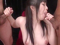Breasty japanese shows her bottoms