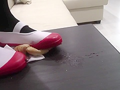 Japanese School Shoes Crush Claymen ( add me and watch more)