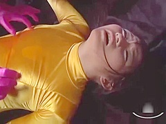 Asian Heroine Getting Her Tits And Pussy Rubbed By Other Heroine In The Dungeon