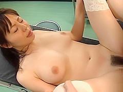 Ai Takeuchi Asian nurse enjoys group action at work